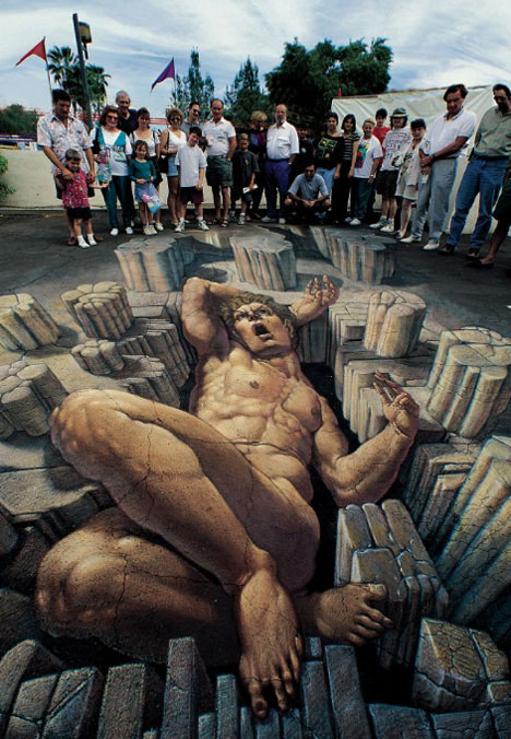 3D Graffiti Art 2 by Kurt Wenner
