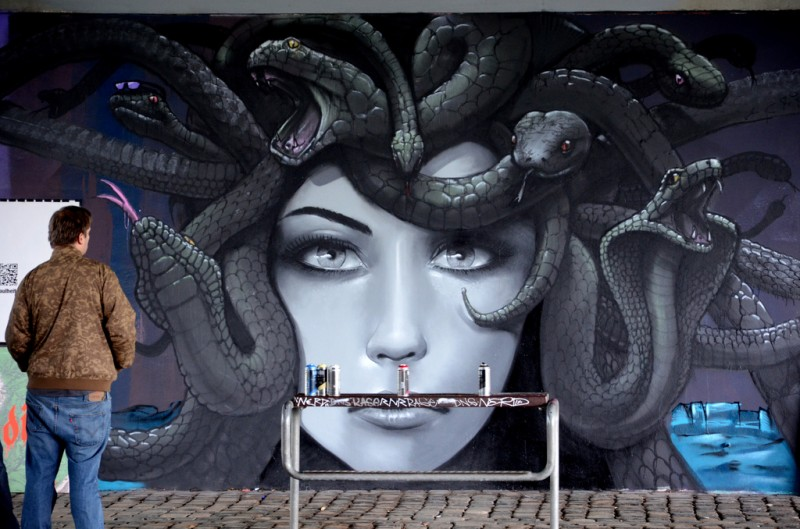 Graffiti by Cor in Frankfurt, Germany