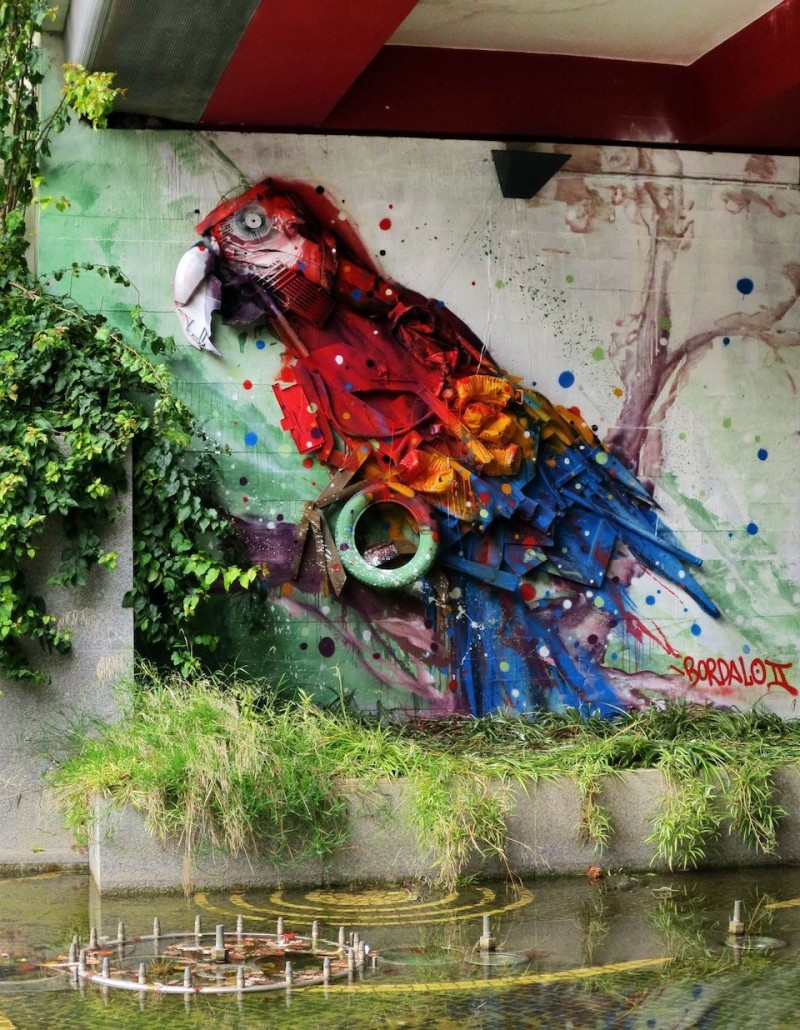 Street Art by Bordalo Segundo in Portugal