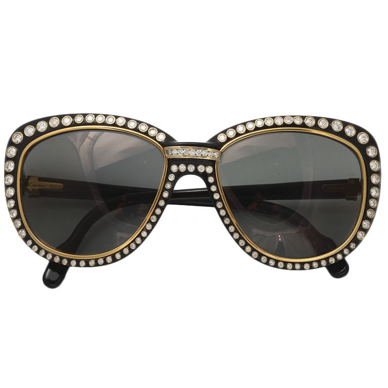cartier 18k gold sunglasses
