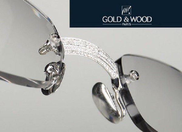 Gold and Wood 119 Diamond Glasses