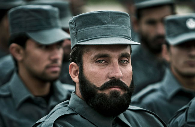 Graduating Afghan Police Officer