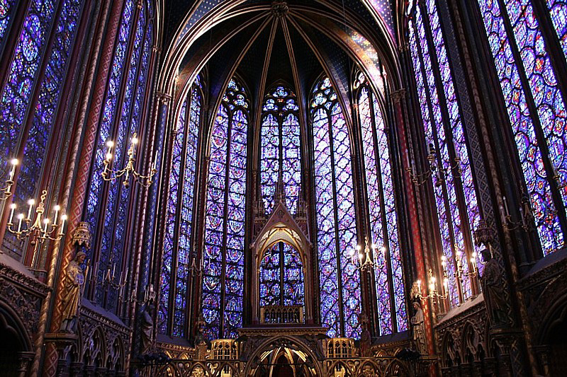 Sainte-Chapelle Stained Glass in France