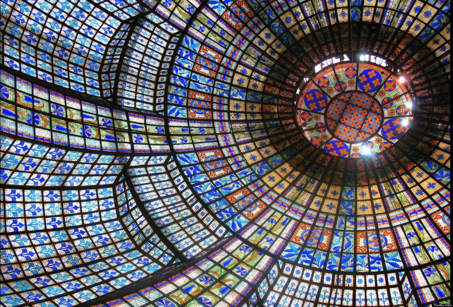 Stained Glass Dome Ceiling in Chicago